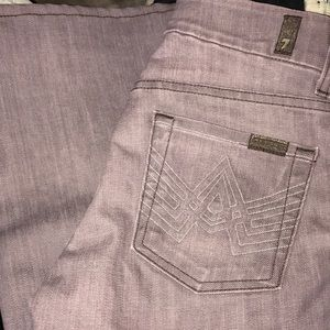 7 for all Mankind purple bell bottom jeans